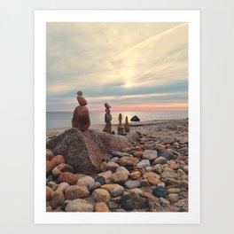 Rock Totems Art Print