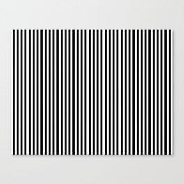 Black & White Vertical Stripes Canvas Print