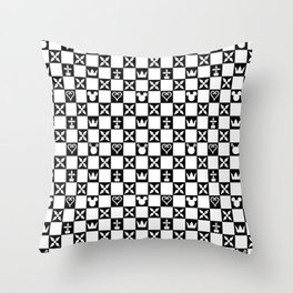 Kingdom Hearts pattern Throw Pillow