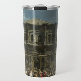 The Feast Day of St Roch by Canaletto Travel Mug