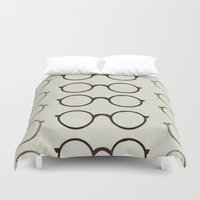 glasses Duvet Covers featuring (Glasses) by Mr and Mrs Quirynen