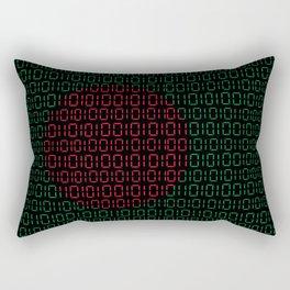 digital Flag (Bangladesh) Rectangular Pillow