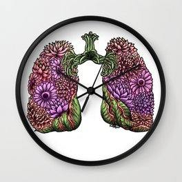 Plant Lungs Wall Clock