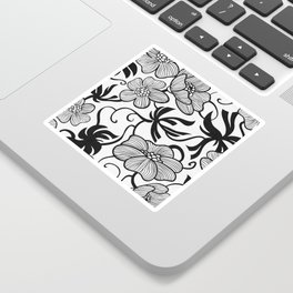 Paris 1929 - Retro Vintage Poppy Flowers Sticker