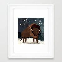 buffalo Framed Art Prints featuring Buffalo by Christiane Engel
