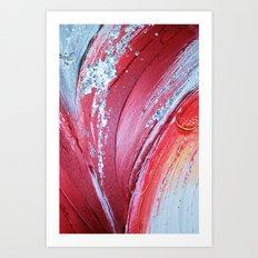 Acrylic Abstract on Canvas 2 Art Print