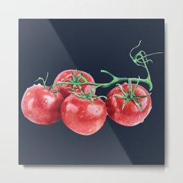 tomatos blue pillow Metal Print