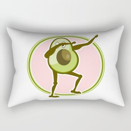 Avocado Dabbing Rectangular Pillow