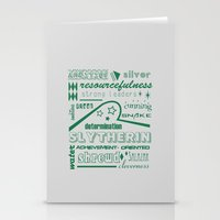 slytherin Stationery Cards featuring Slytherin by husavendaczek