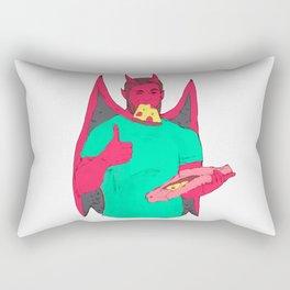 gay bear demon pizza Rectangular Pillow