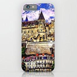 Medieval castle of Saumur, Loire Valley, France. iPhone Case