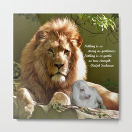 Gentle Strength Metal Print