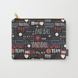 Sport. Baseball pattern. Carry-All Pouch