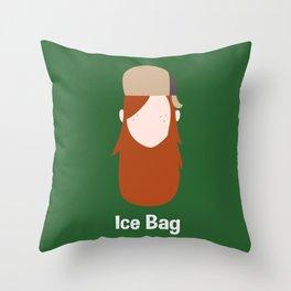 Ice Bag Throw Pillow