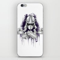 ninja turtle iPhone & iPod Skins featuring Shredder -Teenage Mutant Ninja Turtle by Roe Mesquita