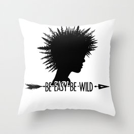 Be Easy Be Punk Throw Pillow