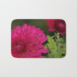 Pink Chrysanthemums Donegal Bath Mat