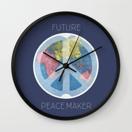 Future Peace Maker Wall Clock