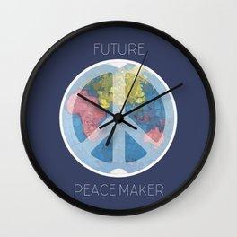 Future Peace Maker Wall Clock