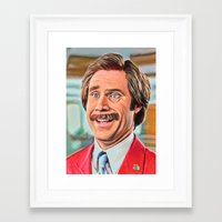 anchorman Framed Art Prints featuring ANCHORMAN by i live