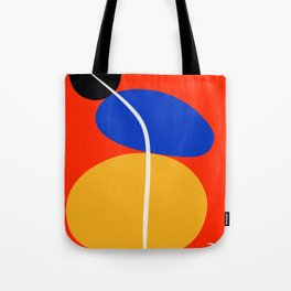 Red Zen Minimal Abstract Tote Bag