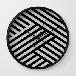 Interrupted lines Wall Clock