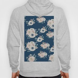Dog Rose Pattern Hoody