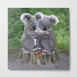 Baby Koala Huggies Metal Print