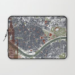 Seville city map engraving Laptop Sleeve