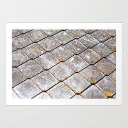 Nantes Tiles Art Print