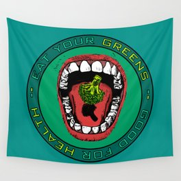 Eat Your Greens! Wall Tapestry