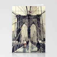 takmaj Stationery Cards featuring Brooklyn Bridge by takmaj