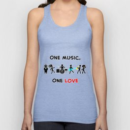 One Music, One Love Unisex Tank Top