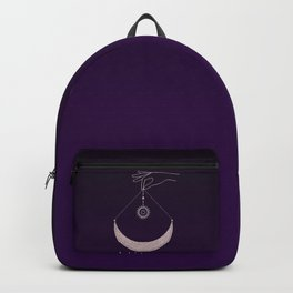 The Magic Of The Pink Moon  Backpack