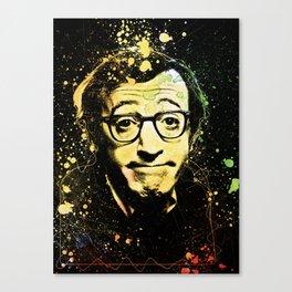 Woody Allen Splashes Canvas Print