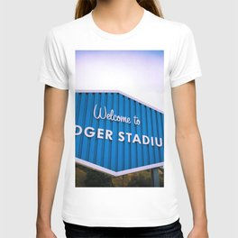 Welcome to Dodger Stadium | Los Angeles California Nostalgic Iconic Sign Sunset Art Print Tapestry T-shirt