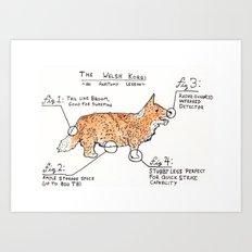 Korgi Anatomy Art Print