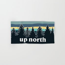 up north, teal & yellow Hand & Bath Towel