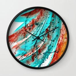 """Rainbow"". Phthalo Green Series, No 7. Wall Clock"