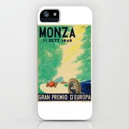 Grand Prix Monza, 1949, Gran Premio Monza, vintage poster iPhone Case