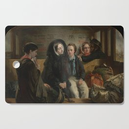 "Abraham Solomon - ""Thus part we rich in sorrow, parting poor."" (1855, alt) Cutting Board"