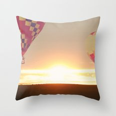 Balloons at Sunset Throw Pillow