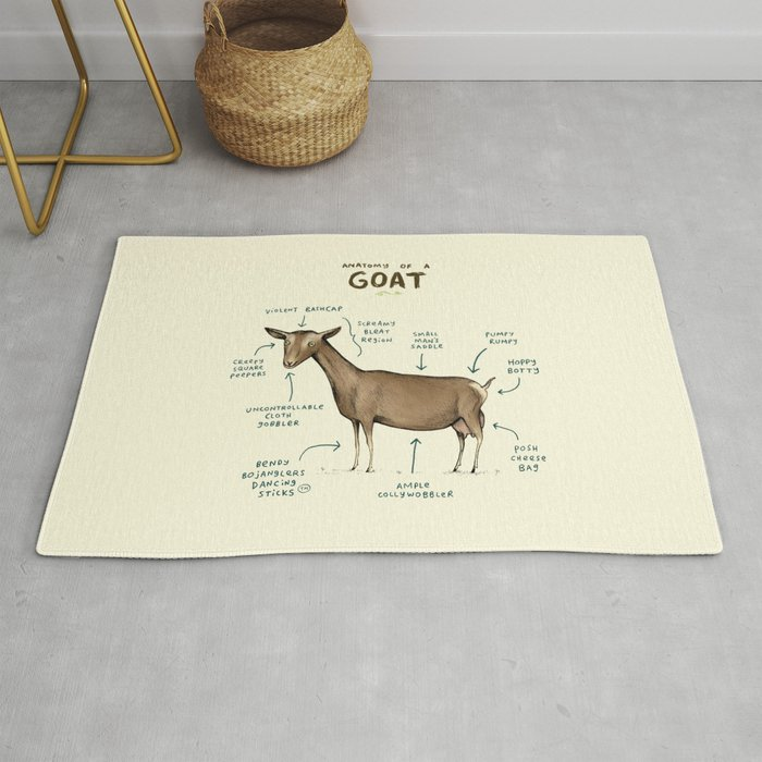 Anatomy Of A Goat Rug By Sophiecorrigan