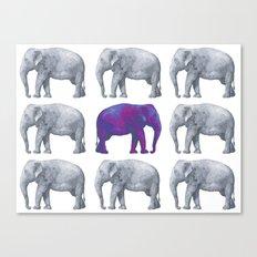 Elephants II Canvas Print