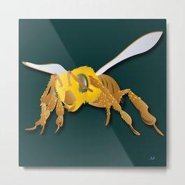 Bee - 'A Fantastic Journey' Metal Print