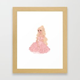 Pretty Princess in Pink Framed Art Print
