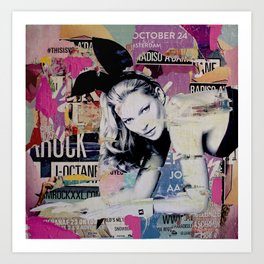 Kate Moss is playin' bad bunny Art Print