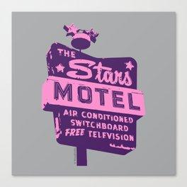 Seeing Stars ... Motel ... (Purple/Pink/Grey) Canvas Print