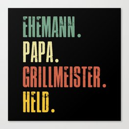 Funny Father's Day Gift Father's Day Dad Canvas Print
