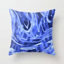 Floating In A Sea Of Blue Throw Pillow